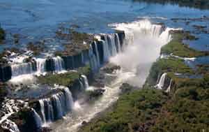 Iguazu Falls Aerial view
