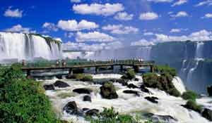Iguazu Falls with Tourists